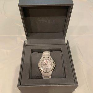New!! Michele Tahitian White Ceramic Watch